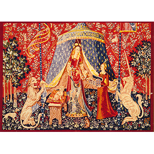 Royal Paris Needlepoint - Tapestry Canvases - Lady and the Unicorn - My Sole Desire