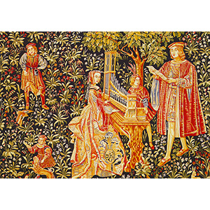 Royal Paris Needlepoint - Tapestry Canvases - Lady and the Organ