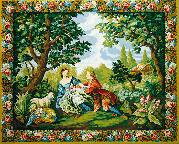 Royal Paris Needlepoint - Tapestry Canvases - Charms of Country Life Canvas