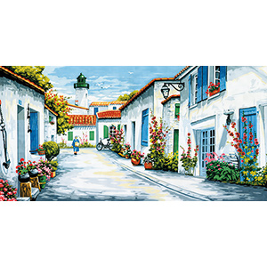Margot Creations de Paris Needlepoint - Tapestries - La Rue du Phare (Lighthouse Way)