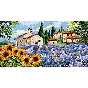 Margot Creations de Paris Needlepoint - Tapestries - Lavender and Sunflowers