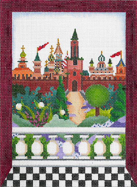 Windows on the World - Kremlin - Hand Painted Needlepoint Canvas from dede's Needleworks