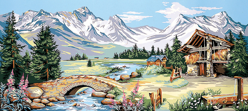 Margot Creations de Paris Needlepoint - Mountain Stream