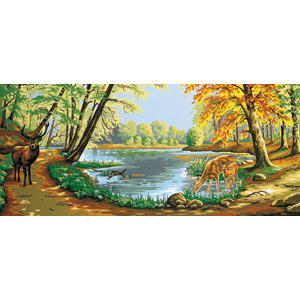 Margot Creations de Paris Needlepoint - Tapestries - En Foret (In the Forest)