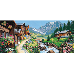 Margot Creations de Paris Needlepoint (Paysage Alpin) Alpine Passage (Landscape) Tapestry Canvas