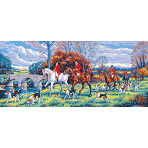 Margot Creations de Paris Needlepoint - Tapestries - Jour de Chasse (Day of the Hunt Tapestry Canvas) Tapestry