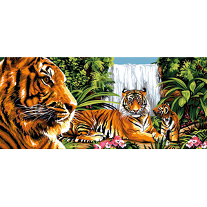 Margot Creations de Paris Needlepoint - Tapestries - Verte Jungle (Green Jungle) Tapestry Canvas