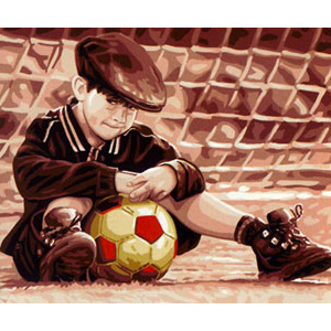 Royal Paris Needlepoint Little Footballer by Kim Anderson