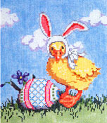 Quacker - Stitch Painted Needlepoint Canvas from Sandra Gilmore