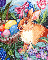 Cottontail - Stitch Painted Needlepoint Canvas from Sandra Gilmore