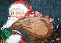 Merry Magic - Stitch Painted Needlepoint Canvas from Sandra Gilmore