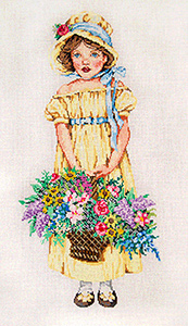 Flora - Stitch Painted Needlepoint Canvas from Sandra Gilmore