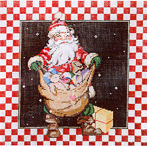 Santa SB3 - Stitch Painted Needlepoint Canvas from Sandra Gilmore