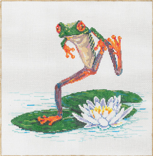 Frolic - Stitch Painted Needlepoint Canvas from Sandra Gilmore
