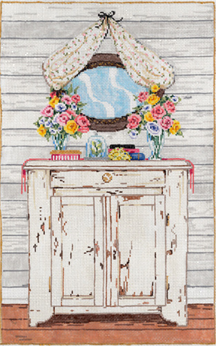 The Dresser - Stitch Painted Needlepoint Canvas