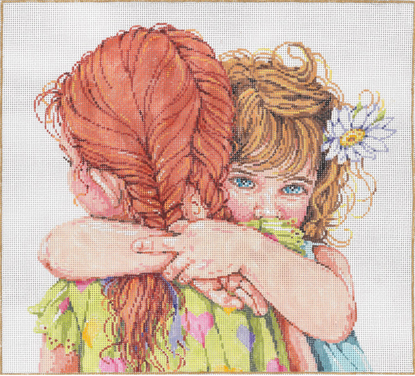 You've Got A Friend - Stitch Painted Needlepoint Canvas