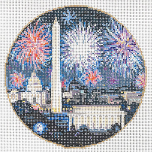 National 4th - Stitch Painted Needlepoint Canvas from Sandra Gilmore