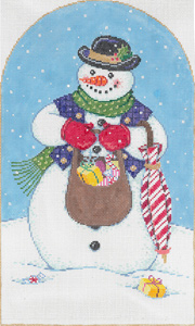 Mr. Frost - Stitch Painted Needlepoint Canvas from Sandra Gilmore