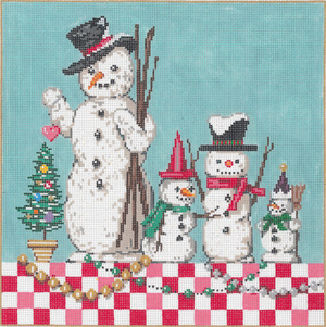 Ice Guys - Stitch Painted Needlepoint Canvas from Sandra Gilmore