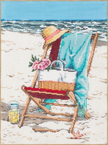Bliss - Stitch Painted Needlepoint Canvas from Sandra Gilmore