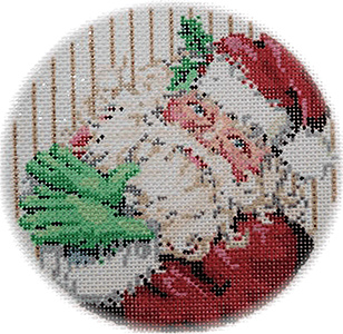 Crystal Santa - Stitch Painted Needlepoint Canvas from Sandra Gilmore