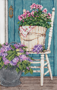 Garden Gems - Stitch Painted Needlepoint Canvas