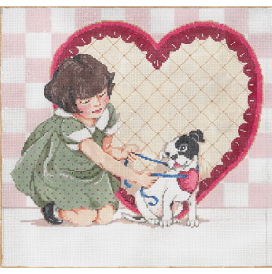 I'm Yours - Stitch Painted Needlepoint Canvas from Sandra Gilmore