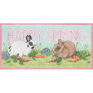 Hippity Hop - Stitch Painted Needlepoint Canvas from Sandra Gilmore