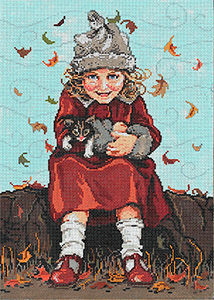 Janie and Jinx - Stitch Painted Needlepoint Canvas from Sandra Gilmore