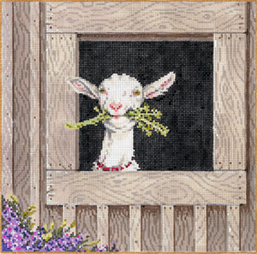 Clementine - Stitch Painted Needlepoint Canvas from Sandra Gilmore