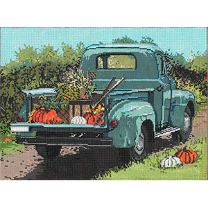 Country Road - Stitch Painted Needlepoint Canvas from Sandra Gilmore