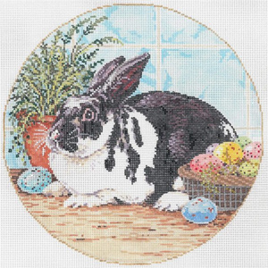 Mr. Whiskers - Stitch Painted Needlepoint Canvas from Sandra Gilmore