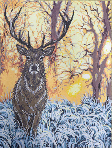 Majestic - Stitch Painted Needlepoint Canvas from Sandra Gilmore