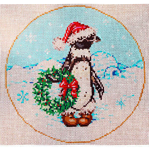 Snow Home - Stitch Painted Needlepoint Canvas from Sandra Gilmore