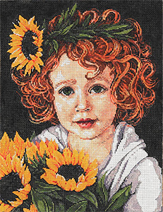 Sunny - Stitch Painted Needlepoint Canvas from Sandra Gilmore with Custom Kit