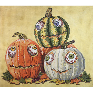 Googly Eyes - Stitch Painted Needlepoint Canvas from Sandra Gilmore