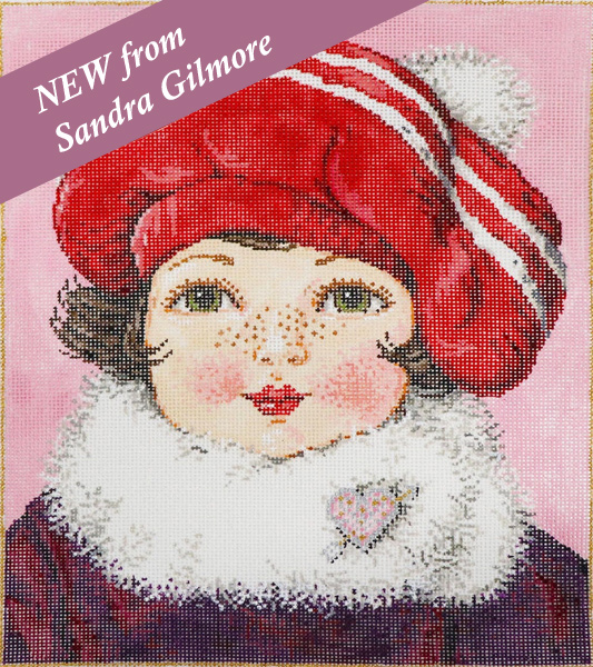 Patty - Stitch Painted Needlepoint Canvas from Sandra Gilmore