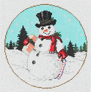 Mr. Flake - Stitch Painted Needlepoint Canvas from Sandra Gilmore