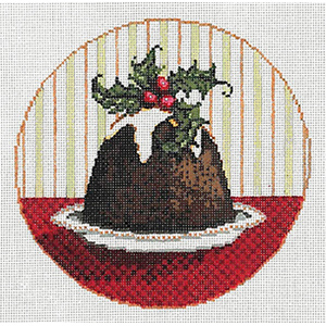 Pudding - Stitch Painted Needlepoint Canvas from Sandra Gilmore