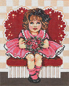 Sweetie - Stitch Painted Needlepoint Canvas from Sandra Gilmore