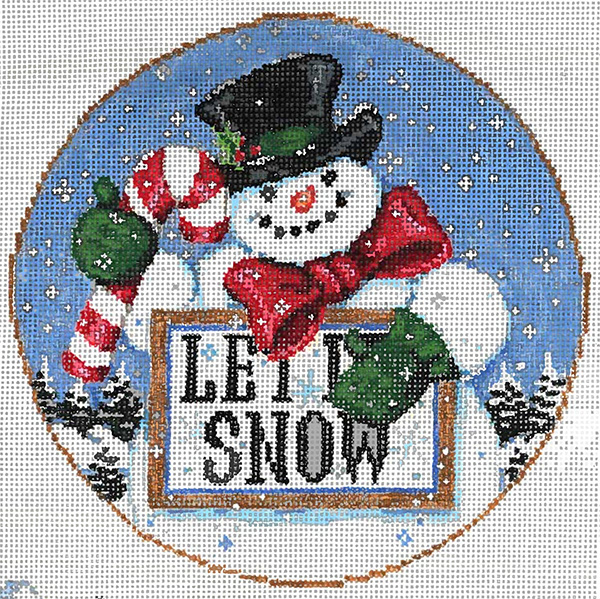 Let It! - Stitch Painted Needlepoint Canvas from Sandra Gilmore