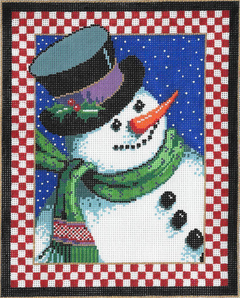 Smile - Stitch Painted Needlepoint Canvas from Sandra Gilmore