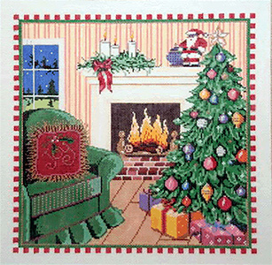 Christmas Eve - Stitch Painted Needlepoint Canvas from Sandra Gilmore