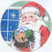 Santa - Stitch Painted Needlepoint Canvas from Sandra Gilmore
