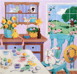 Easter Time - Stitch Painted Needlepoint Canvas from Sandra Gilmore