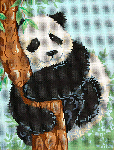 Hua Mei - Stitch Painted Needlepoint Canvas from Sandra Gilmore