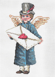 Messenger - Stitch Painted Needlepoint Canvas from Sandra Gilmore