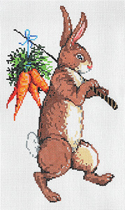 Hop I - Stitch Painted Needlepoint Canvas from Sandra Gilmore