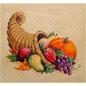 Harvest - Stitch Painted Needlepoint Canvas from Sandra Gilmore