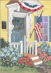 Patriotic - Stitch Painted Needlepoint Canvas from Sandra Gilmore